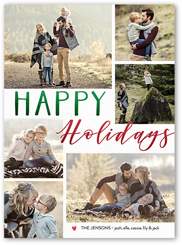 Contemporary Greetings Holiday Card