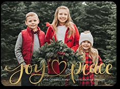 joy peace heart holiday card