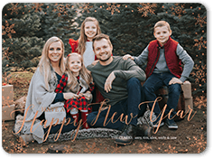 bordered frost holiday card