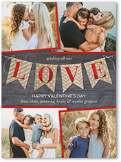 Be mine, Valentine. Fall in love with this sweet Valentine's card. Add your favorite photo and hugs, kisses and wishes.