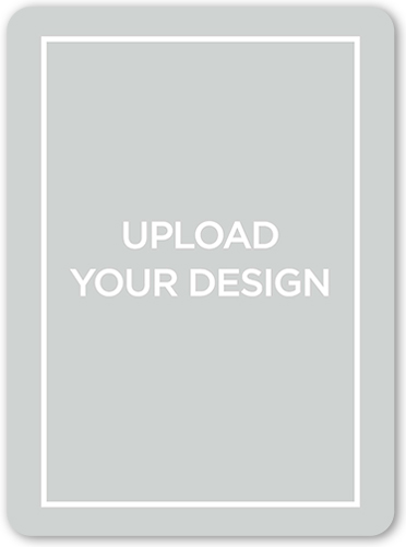 Upload Your Own Design Wedding Announcement, Rounded Corners