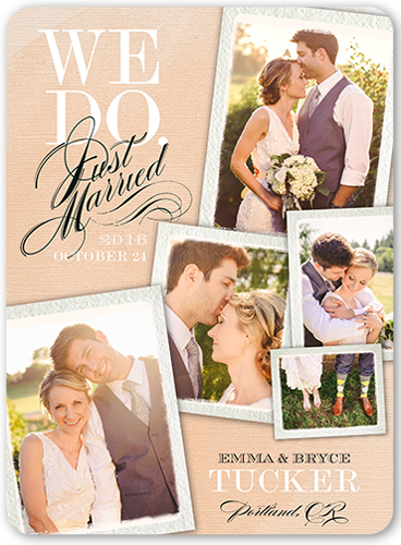 Unforgettable Moments Wedding Announcement, Rounded Corners
