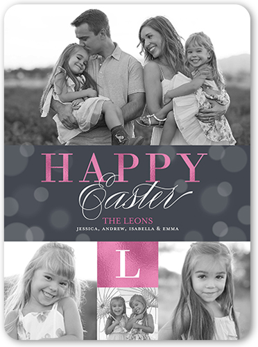 Glorious Bokeh Easter Card, Rounded Corners