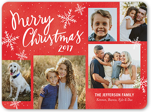 Merry Speckled Flurries Christmas Card