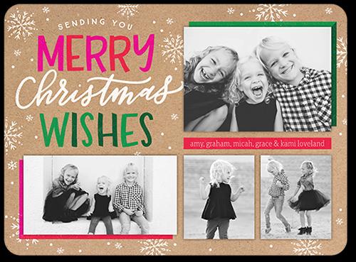 Eccentric Greeting Christmas Card