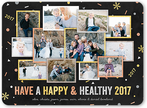 Joyful Confetti New Year's Card