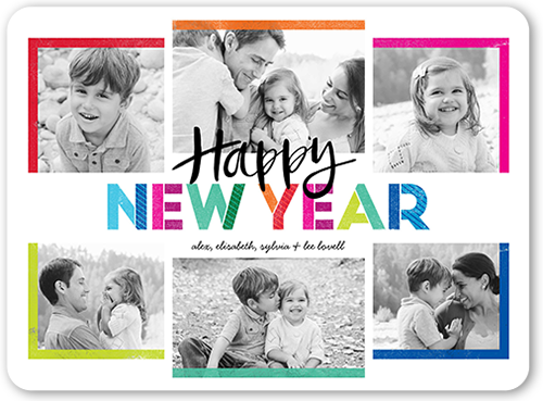 Colored Frames New Year's Card