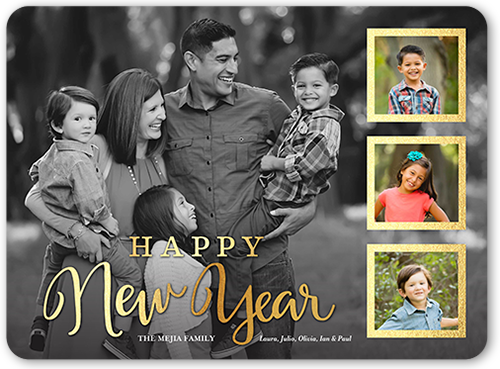 Gilded Frames New Year's Card