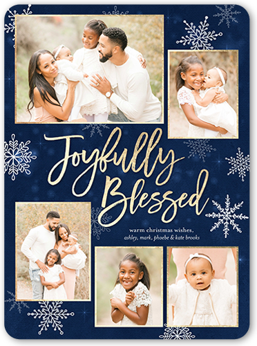 Joyfully Blessed Religious Christmas Card, Square