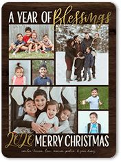 blessed year religious christmas card