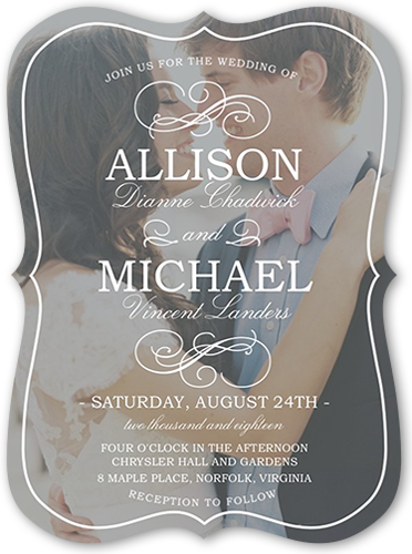 flourish with love wedding invitation