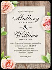 love blooms wedding invitation 6x8 flat