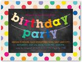 party banner birthday invitation 4x5 flat
