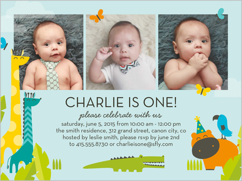 Friends And Fun Boy Birthday Invitation, Square