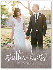 wreath in love thank you card