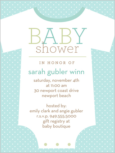 Little Loungewear Blue 4x5 Invitation Baby Shower Invitations