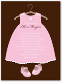 twinkle toes baby shower invitation 4x5 flat