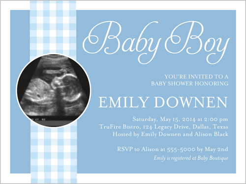 sneak peak boy x invitation  baby shower invitations  shutterfly, Baby shower invitation