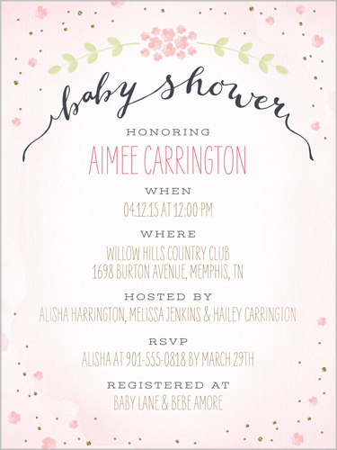 Baby Breeze Baby Shower Invitation, Square