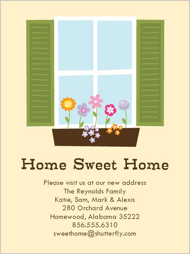 sweet home 4x5 moving announcement cards shutterfly