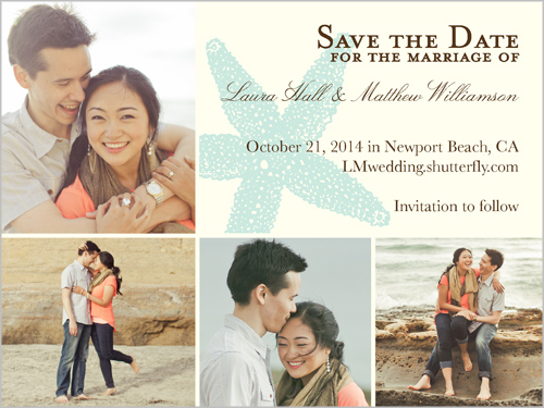Starfish Love Save The Date
