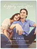 happily ever save the date 4x5 flat
