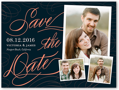 Flourished Date Save The Date, Square