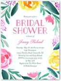 brushed flowers bridal shower invitation 4x5 flat