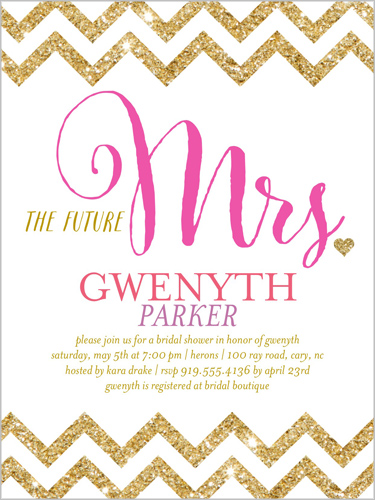 Marvelous Mrs. Bridal Shower Invitation, Square