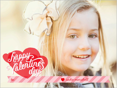 Striped Love Valentine's Card
