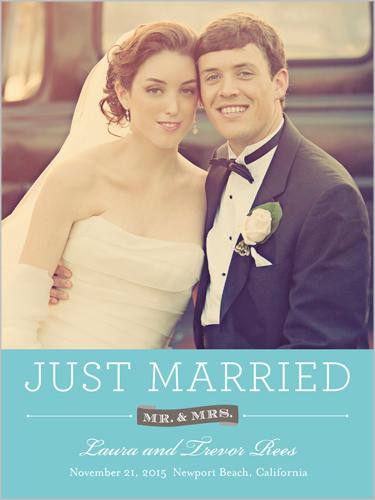 Sweet Matrimony Wedding Announcement, Square