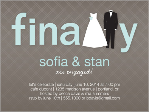 finally happening engagement party invitation - Engagement Party Invite