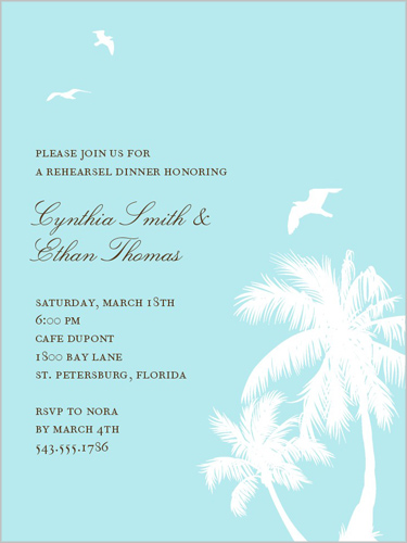 The Palms Rehearsal Dinner Invitation