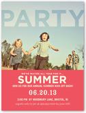 sophisticated soiree summer invitation 4x5 flat