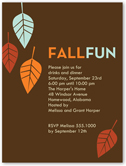 fall fun fall invitation 4x5 flat