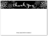 joyful joyful holiday thank you card 4x5 flat