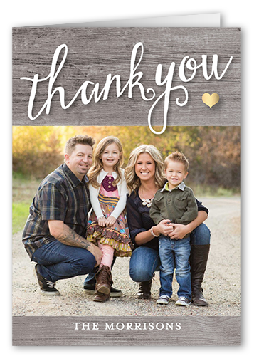 Rustic Thanks Thank You Card