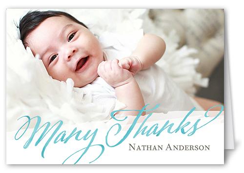 Wonderful Welcome Boy Thank You Card
