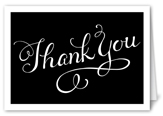simply scripted thanks thank you card 3x5 folded