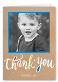 vivid thanks boy thank you card 3x5 folded