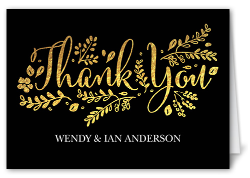 Fabulous Floral Thank You Card