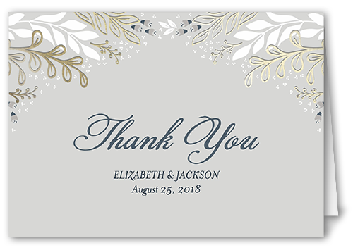 Affectionate Floral Thank You Card