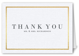 simple solid frame thank you card 3x5 folded