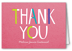 just for you thank you card 3x5 folded