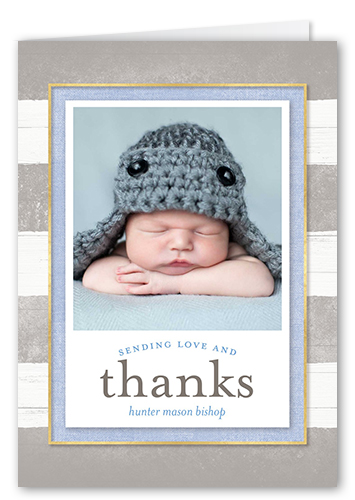 Striped Gratitude Thank You Card