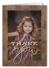 country frame thank you card