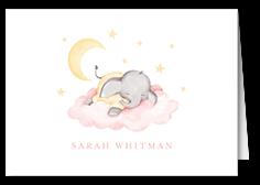elephant slumber thank you card