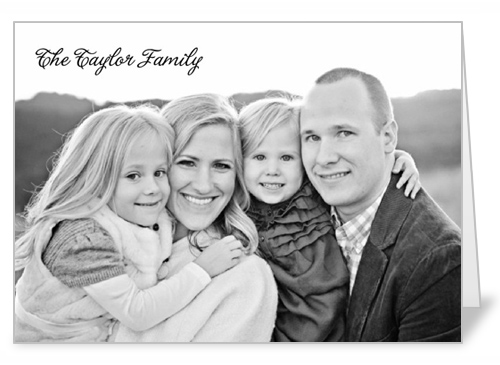 Family Portrait Thank You Card