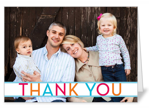 Colorful Banner Thank You Card
