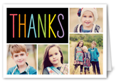 colorful thanks thank you card 3x5 folded